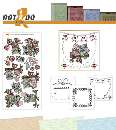 Card Deco - Kaartenpakketten - Dot & Do - No. 28 - Uilen - DODO028