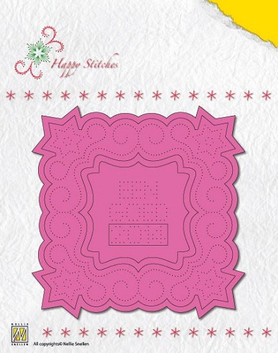 Nellie Snellen - Die - Happystitch - Christmas square 1