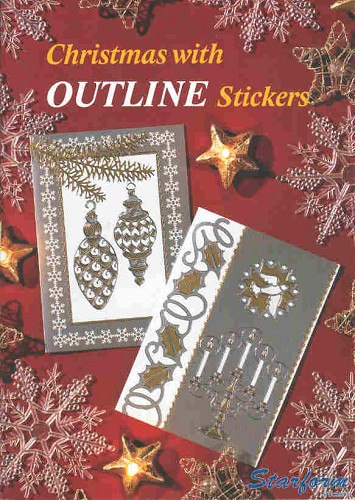 Starform - Boek - Christmas with Outline Stickers