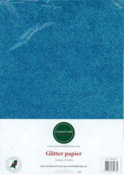 Central Craft Collection - Glitterpapier: Aqua - 280-010