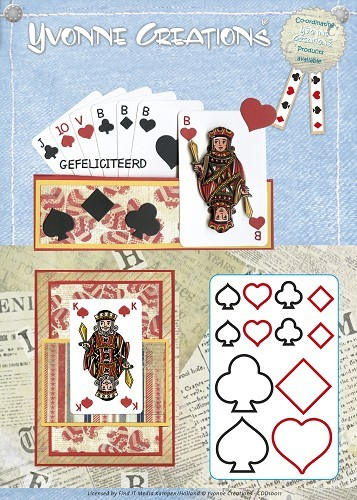 Card Deco - Yvonne Creations - Die - Cards Collection - Playing Cards