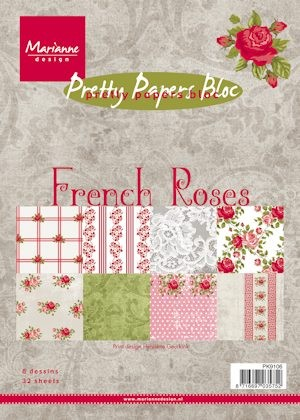 Marianne Design - Paperpack - Pretty Papers - French roses