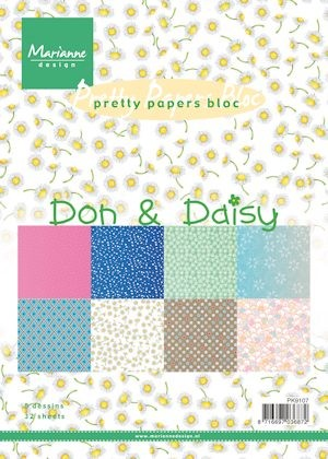 Marianne Design - Paperpack - Pretty Papers - Don & Daisy - PK9107