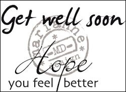 Marianne Design - Clearstamp - Get well soon - CS0895
