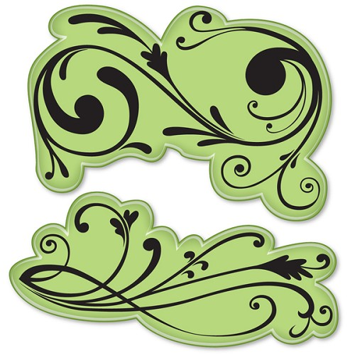 Inkadinkado - Cling Stamp - Classic Flourish Filigree - 60-60009