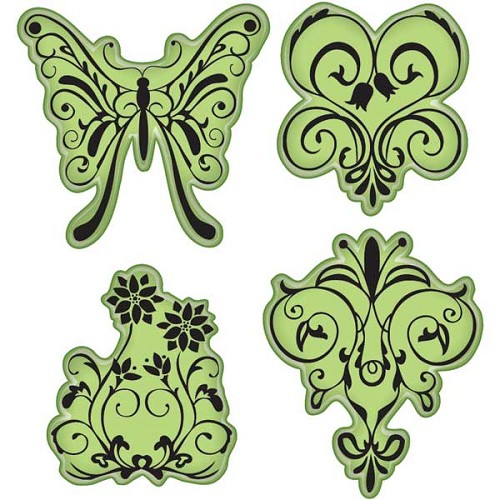 Inkadinkado - Clings stamp - Butterfly gardens stamps - 65-32058