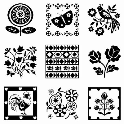 Inkadinkado - Clearstamp - Folk Patterns Inchie - 60-30525