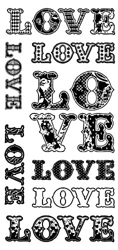 Inkadinkado - Clearstamp - Patterned Love - 60-30335