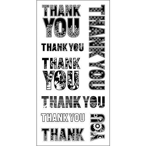 Inkadinkado - Clearstamp - Patterned Thank you - 60-30337