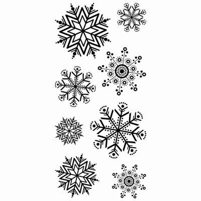 Inkadinkado - Clearstamp - Fun flakes - 60-30065