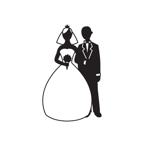 Darice - Embossingfolder - Bride and Groom Silhouette - 1216-58