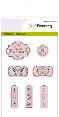 CraftEmotions - Clearstamp - Botanical tags - 130501/1018