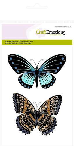 CraftEmotions - Clearstamp - Botanical Butterflies No.1 - 130501/1016