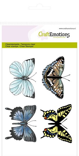 CraftEmotions - Clearstamp - Botanical Butterflies - 130501/1015