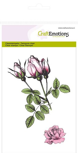 CraftEmotions - Clearstamp - Botanical roses bud - 130501/1014