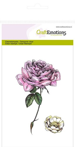 CraftEmotions - Clearstamp - Botanical rose - 130501/1013