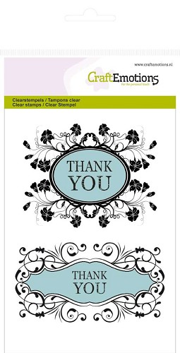 CraftEmotions - Clearstamp - Botanical - Thank you - 130501/1011