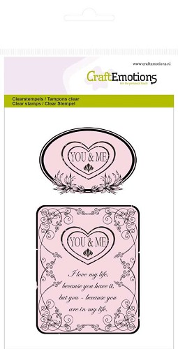 CraftEmotions - Clearstamp - Botanical - You & Me - 130501/1010