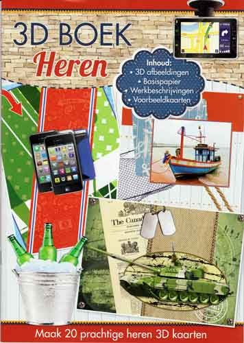 Studio Light - 3D-kaartenboek - Heren - A4SLBOEK81