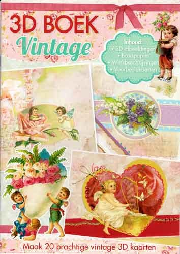 Studio Light - 3D-kaartenboek - Vintage - A4SLBOEK77
