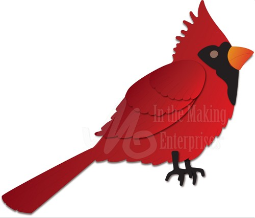 Dee`s Distinctively - Die - Cardinal Right Facing