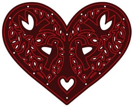 Crafts-Too - Die - Cutting & Embossing - Heart - CTDI7096