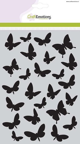 CraftEmotions - Maskingstencil - Butterflies - 185070/1108