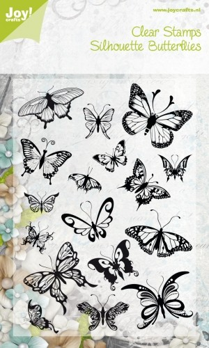 Joy! crafts - Noor! Design - Clearstamp - Silhouette Butterflies - 6410/0066