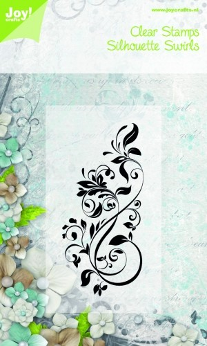 Joy! crafts - Noor! Design - Clearstamp - Silhouette Swirls - 6410/0074
