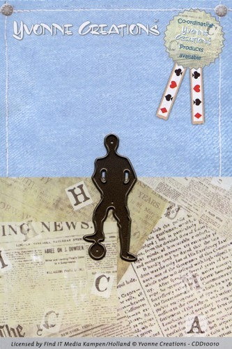 Card Deco - Yvonne Creations - Die - Men - Soccerplayer