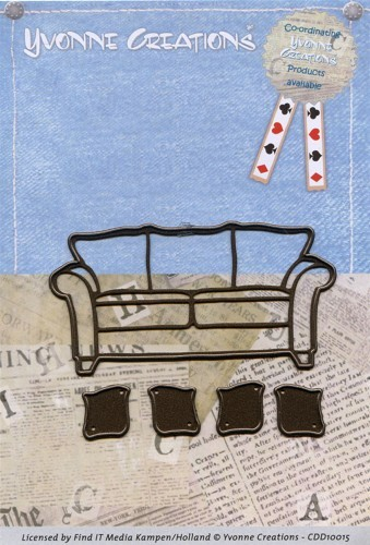 Card Deco - Yvonne Creations - Die - Men - Couch