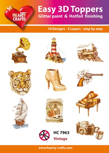 Hearty Crafts - Easy 3D Toppers - Vintage - HC7963
