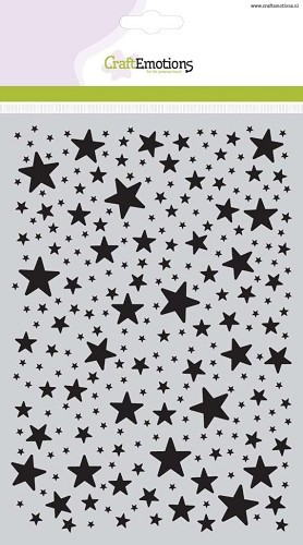 CraftEmotions - Maskingstencil - Stars - 185070/1111