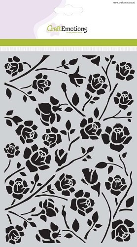 CraftEmotions - Maskingstencil - Botanical roses - 185070/1010