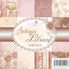 Wild Rose Studio`s - Paperpack - Antique Library - PP040