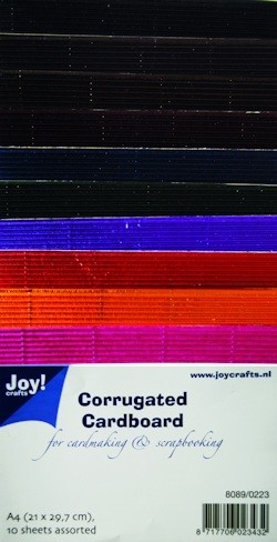 Joy! crafts - Ribbelkarton - Metallic: assorti - 8089/0223