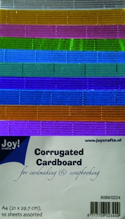 Joy! crafts - Ribbelkarton - Metallic: assorti - 8089/0224