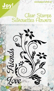 Joy! crafts - Noor! Design - Clearstamp - Silhouettes Flowers - 6410/0091
