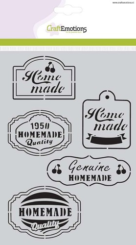 CraftEmotions - Maskingstencil - Kitchen labels - 185070/1020