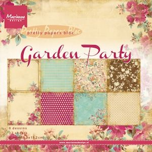 Marianne Design - Paperpack - Pretty Papers - Garden Party - PK9108