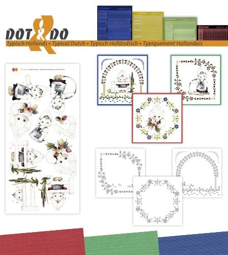 Card Deco - Kaartenpakketten - Dot & Do - No. 34 - Typisch Hollands - DODO034