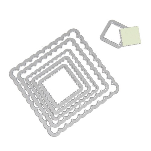 Sizzix - Die - Framelits - Squares scallop