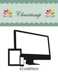 Dixi Craft - Clearstamp - Computer - STAMP0024