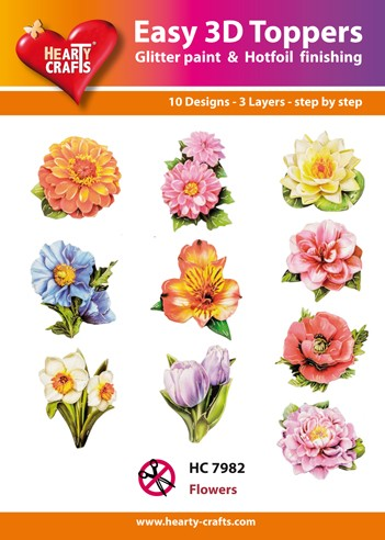 Hearty Crafts - Easy 3D Toppers - Flowers - HC7982