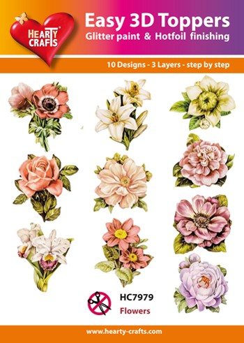 Hearty Crafts - Easy 3D Toppers - Flowers - HC7979