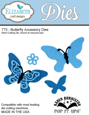Elizabeth Craft - Die - Butterfly Accessory - 773