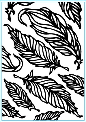 Elizabeth Craft Designs - Embossingfolder - Feathers
