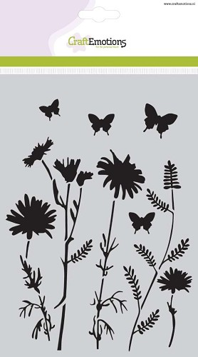 CraftEmotions - Maskingstencil - Field Flowers - 185070/1107