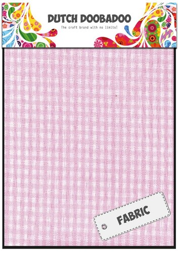 Dutch Doobadoo - Textiel Sheet - Pink Check - 400.903.012