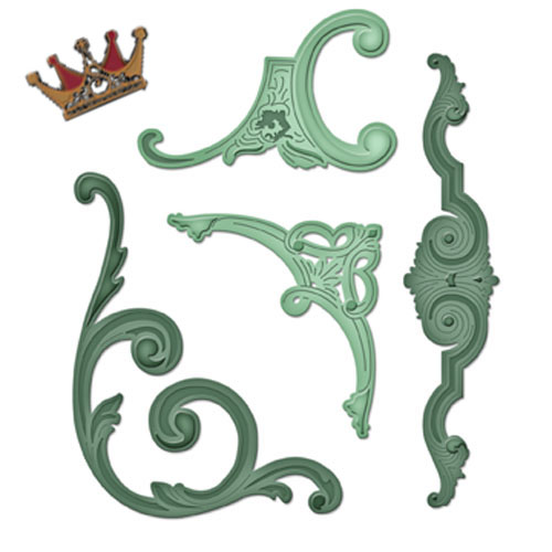 Spellbinders - Die - Imperial Gold - Gold Corbels and Accents